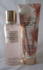 Victoria's Secret Fragrance Mist & Lotion Set of 2 COCONUT MILK & ROSE