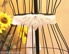 2 Sets of Rhinestone Wedding White Sash Belt, Ivory Bridal Prom Crystal Belt S2