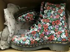 Dr Martens Pascal 1460 Black Wildpoppy Size UK 4 US 6 Eur 37 Flowers Floral New