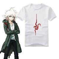 Anime Danganronpa Nagito Komaeda T shirt Cotton Print T-Shirt Cosplay Tops Tees