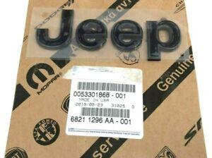 2014-2017 Jeep Compass Patriot front hood gloss black Nameplate Emblem new OEM