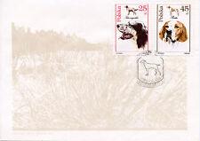 ENGLISH SETTER POINTER POLAND GUN DOG FIRST DAY COVER 1989 FDC -