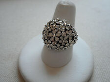 ALE Pandora Sterling Silver Flower Ring size 7.75  RE126