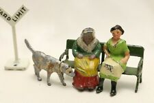 VINTAGE LEAD TOYS MADE IN ENGLAND:  2 WOMEN AND DOG