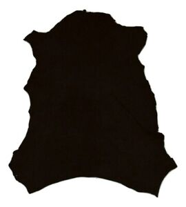 Premium Thin Black Suede Sheepskin Leather Hide Dollmaking Taxidermy Beading
