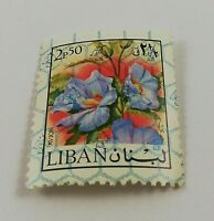 Vintage MNH Stamp 2.5 Piasters LEBANON Air Mail Mint Never Hinged