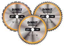 DEWALT DT1964 305mm 3 Pack TC Saw Blades (1 x 24, 1 x 48, 1 x 60T)