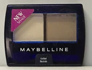 6 Maybelline Expert Eyes Hypoallergenic  Eye Shadow Duo KNITTED NEUTRAL 0.12 oz