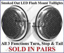 Flat Mount Smoked Out LED Taillights Roll Pan Bumper Custom Dodge Truck F3336S