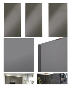 B&Q Santini Grey Gloss Kitchen Replacement Doors Base Drawer Fronts Panels NEW