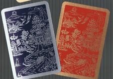 Playing Swap Cards 2 GENUINE VINT  ENG. DECO   ORIENTAL SCENE GOLD SILVER  #150
