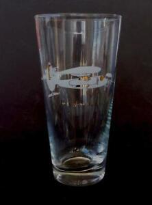 1959 GRUMMAN WF-2 Tracer U.S. Navy Aircraft Vintage Cocktail Beer Collins Glass