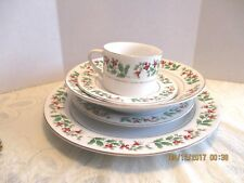 Gibson Holiday 20 Pcs. Holly and Berry Four 5 Pc. Place Setting Dinnerware