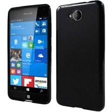 Fundas y carcasas mate de color principal negro de silicona/goma para teléfonos móviles y PDAs