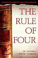 The Rule of Four by Dustin Thomason and Ian Caldwell (2004, Hardcover)