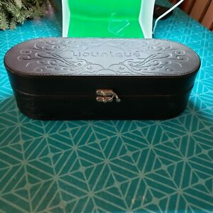 Younique Presenter's Kit Case ~ Makeup Cosmetic Box Embossed Black Faux Leather