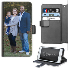 HAIRYWORM PERSONALISE WITH PHOTOS LEATHER WALLET PHONE CASE, FLIP PHONE COVER