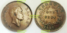 Rare Malaysia Sarawak 1 cent 1927-1941 24mm bronze coin km18