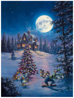 Disney Fine Art Limited Edition Canvas Winter Lights-Mickey Christmas-Gonzalez
