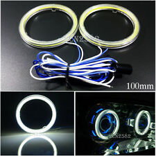 12V 100mm White LED Car Daytime Running Angel Eyes Halo Ring Light Waterproof