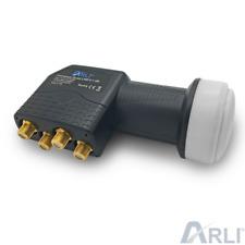 Quad LNB Sat Digital HD 0.1 dB vergoldet 3D Wetterschutz Lmb 4 Teilnehmer 4K TV