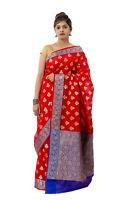 Indian Designer Chanderi Cotton Silk Sari Traditional & Blouse Bollywood Saree