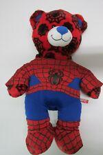 "Build a Bear 18"" Red & Black Web Ultimate Spider-Man Plush Stuffed Bear Bonus Ou"