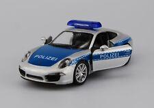 WELLY PORSCHE 911 CARRERA S POLICE 1:34 DIE CAST METAL MODEL NEW