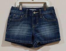 EUC Old Navy Girls Adjustable Waist Blue Jean Shorts Size 8 Slim