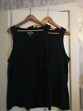2 x Next Men's Black Vest Tops - Size XL