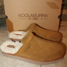 NIB UGG Koolaburra Men's Clog Suede Shearling Slippers Chestnut 11 12 13