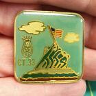 ROYAL ORDER OF JESTERS lapel pin, Iwo Jima flag raising image, ROJ court 33 1990