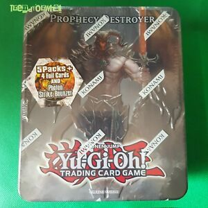 YuGiOh 2012 Prophecy Destroyer Collector Tin Sealed Booster packs + promo cards