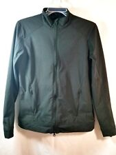 Slazenger Jacket Size Small Black Athletic Water Repellent Fitted Double Zip