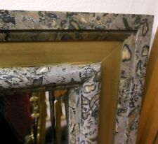 Marble Granite Brass Chapman Beveled Mirror Vintage Exotic Python Cheetah Vein