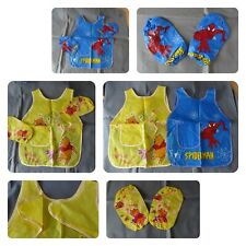 Children Kids Craft Apron with sleeves cooking painting art smock bib waterproof