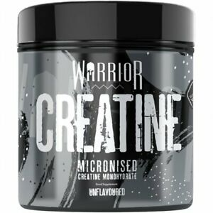 Warrior Creatine Monohydrate Powder 300g 100% Pure Micronised 60 Servings