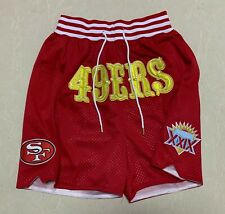 Mens San Francisco 49ers Red Shorts XXIX Super Bowl