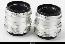 Zeiss Tessar 2.8/50mm Red T for Contax S Pentax M42    Mint
