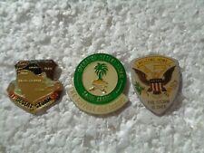 Job lot of 3 Operation Desert Storm military metal lapel pins
