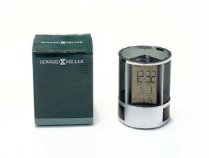 Howard Miller Desk Mate Clock Pen & Pencil Holder Date Time Day Temperature
