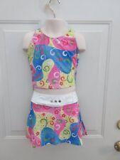 Pink Blue Yellow White 60's Dance Costume Medium Child MC 8 10