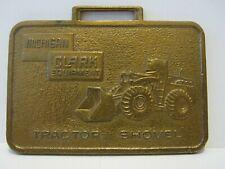 Michigan Clark Tractor Shovel Wheel Loader Brass Pocket Watch Fob California Ca