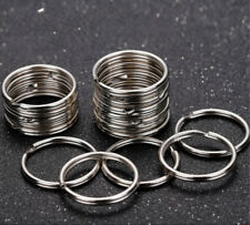 20 Steel Keyrings Split Key Rings 15mm Nickel Hoop Ring Nickel Plated Steel Loop