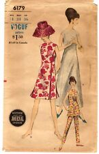 "Vintage 1960s Sewing Pattern Women's LONG SHORT DRESS PANTS 6179 Sz 14 B34"" CUT"