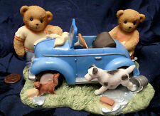 Cherished Teddies CT0052 Tommy & Eddie Washing Car 2005 Membear's Only