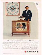 1959 RCA VICTOR Color TV Dinah Shore Leonard Warren VTG PRINT AD