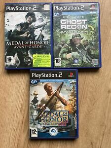 Lot Jeux Ps2 Playstation 2 Medal Of Honor Ghost Recon