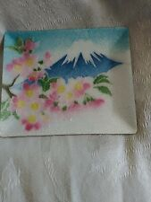 ando cloisonne Style Tray Enamel Mt Fuji