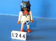 (L244) playmobil sorcier indien loup noir ref 3874 3871 3872 3870 5247